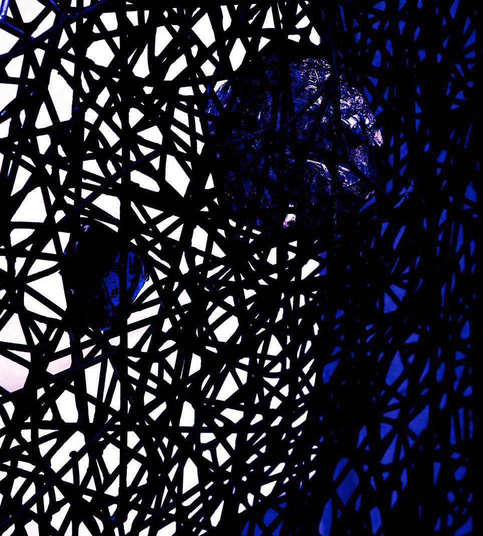 black, blue, web, glass, Venice, modern, abstract