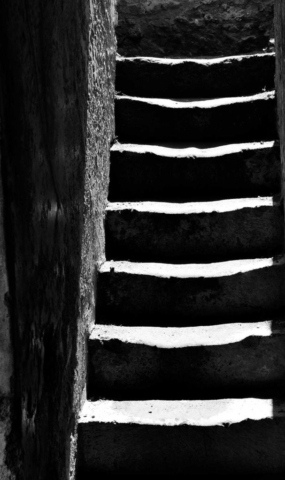 building, black and white, abstract, Pompeii, Italy