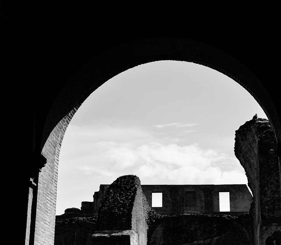 Pompeii, Italy, ruins, black and white, abstract, building, ancient