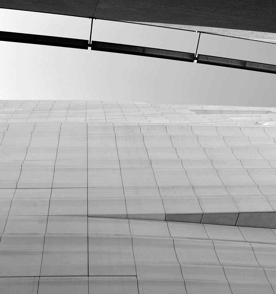 San Francisco, modern, building, abstract, lines, shadow, black and white, art
