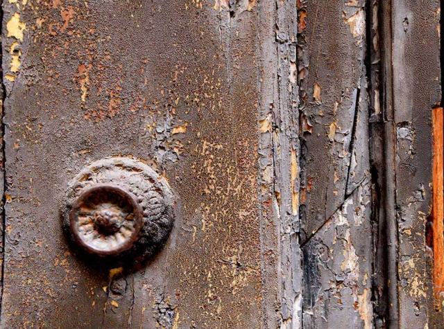 Italy, Venice, door, paint, ancient, abstract, building