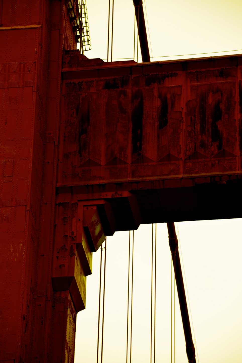bridge, red, California, golden gate, tower, abstract, shadow, art deco