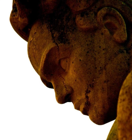 Sweden, modern, abstract, profile, Stockholm, sculpture, gold