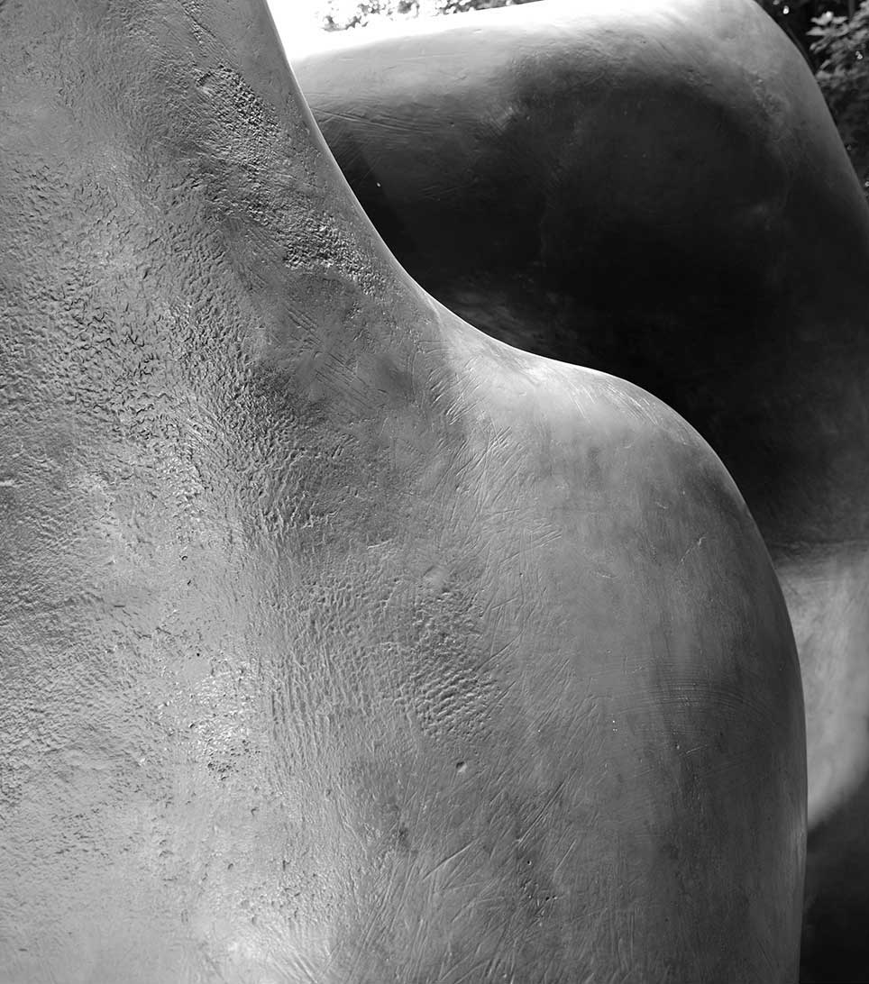 sculpture, black and white, organic, New York, stone, abstract, shadow, curve, human